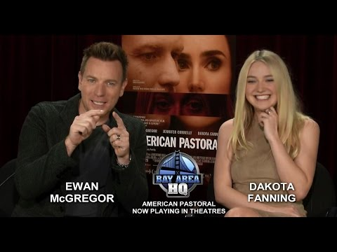 DAKOTA FANNING made EWAN McGREGOR A SCARF! AMERICAN PASTORAL INTERVIEW TRAILER