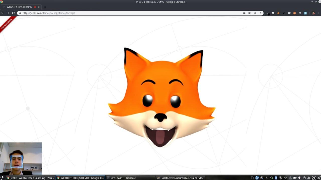 Create 3D animated emoticons with Jeeliz Weboji