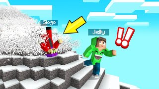RUN From The AVALANCHE In MINECRAFT! (Dangerous)