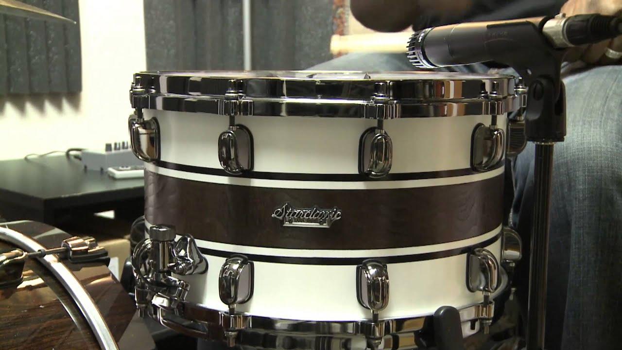 tama starclassic bubinga 8x14 snare drum with custom walnut inlay demo youtube. Black Bedroom Furniture Sets. Home Design Ideas