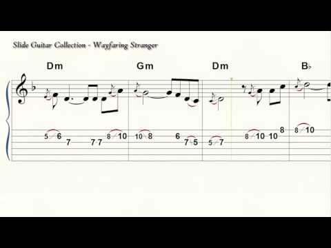 Slide Guitar - Wayfaring Stranger - 6 String Standard Tuning - Acoustic - Electric - CBG