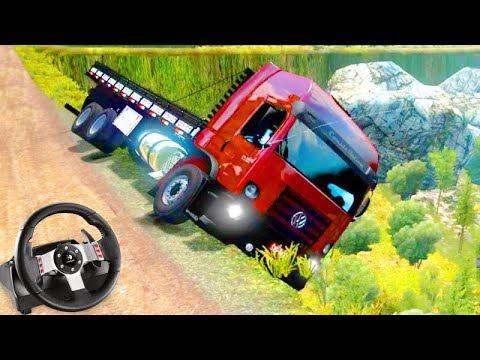 CAMINHÃO CONSTELLATION CAI No PENHASCO!!! - Euro Truck Simulator 2 + G27