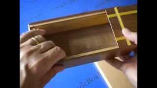 Large 7 Step Japanese Natural Wood Puzzle Box A2