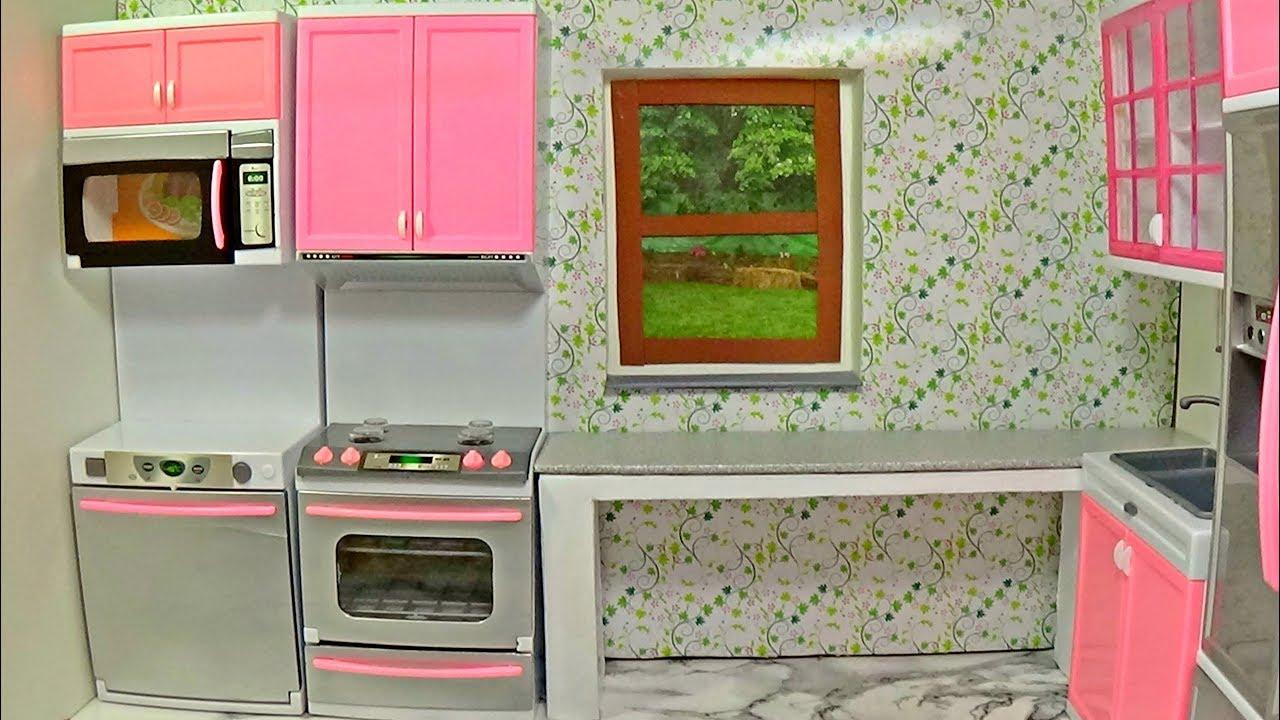 Diy Doll Kitchen How To Make A For Barbie DIY Dolls