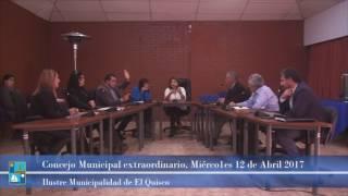 Concejo Municipal Extraordinario Miércoles 12 de abril 2017