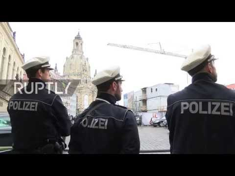 Germany: Dresden on high alert as Merkel visits for Unity Day