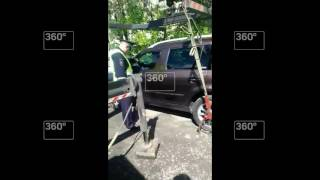 Должница из Челябинска заперлась в машине, надев подгузник ради спасения авто от приставов