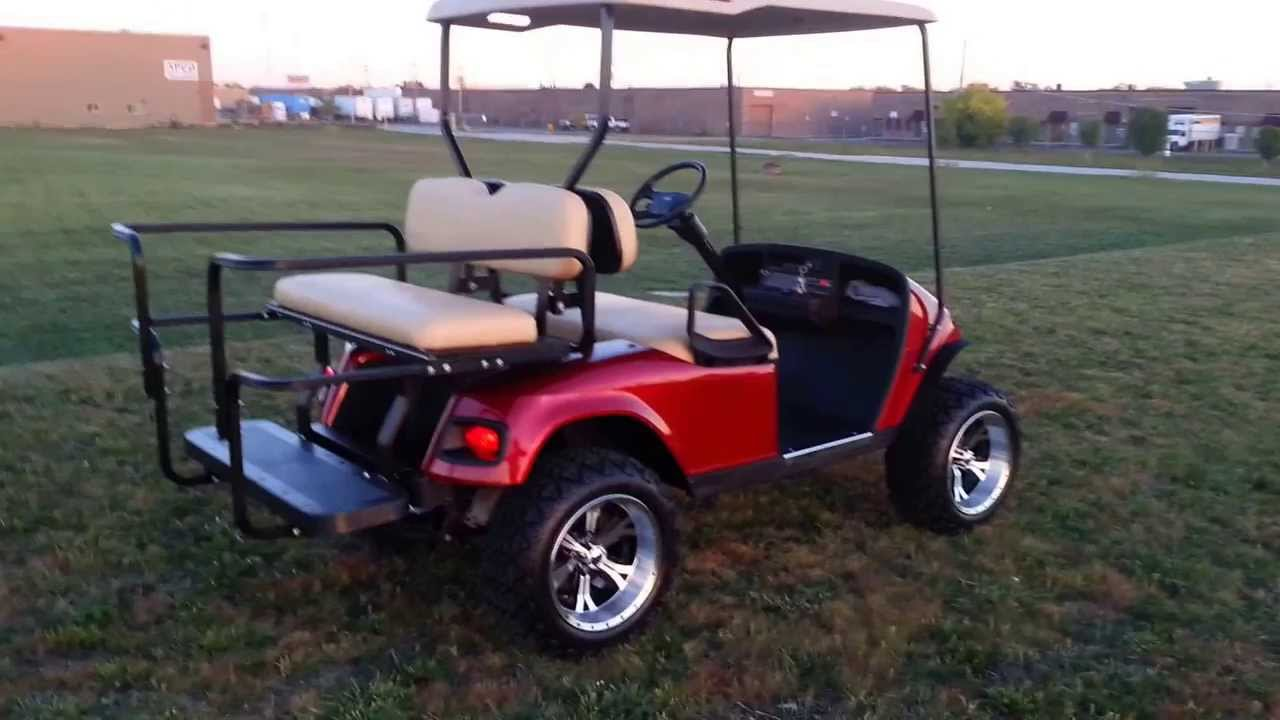 Lifted candy apple red metallic ezgo golf cart with turn signals 14 lifted candy apple red metallic ezgo golf cart with turn signals 14 rims much more youtube solutioingenieria Images