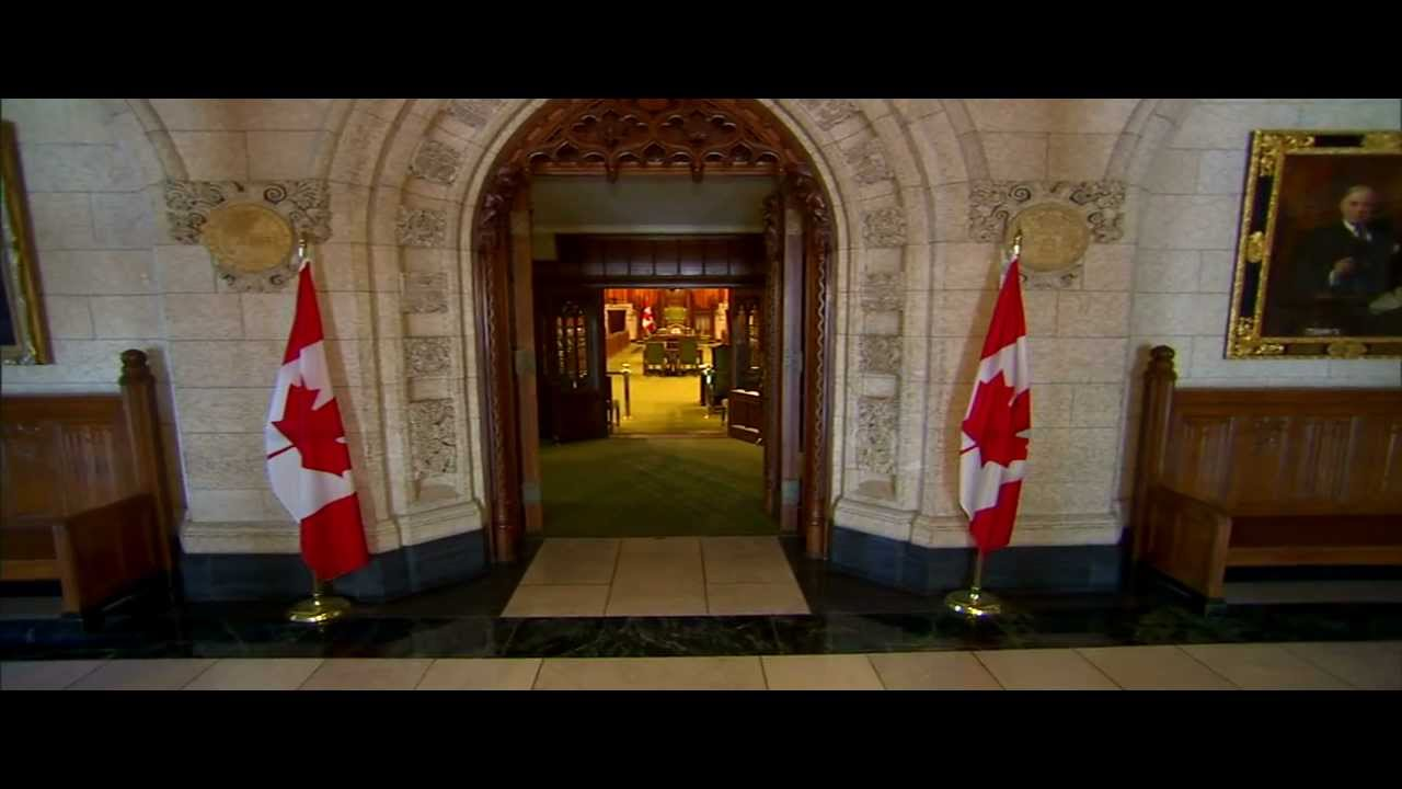 House Of Commons Foyer Canada : Parliament of canada the house commons foyer youtube