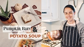 FALL COOK & BAKE WITH ME! | SOUP AND DESSERT