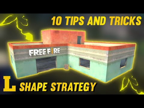 TOP 10 L SHAPE HOUSE SECRET STRATEGY IN FREE FIRE | TIPS AND TRICKS IN FREE FIRE