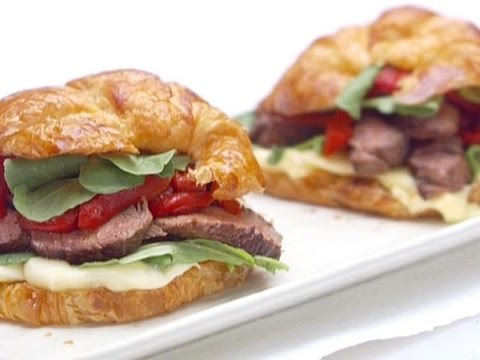 How To Make Giada's Parisian Steak And Cheese Croissant Sandwiches | Food Network