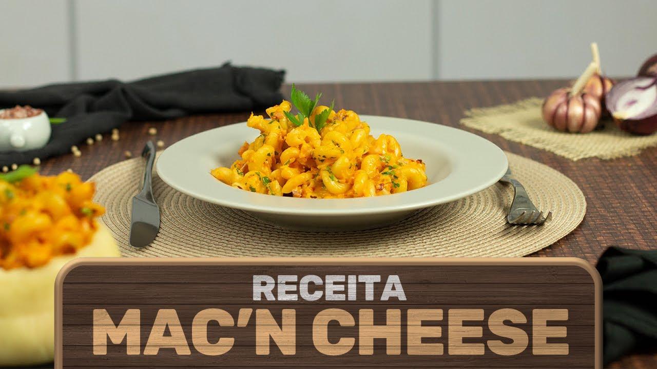Receita de Mac and Chesse com Queijo Recheado Bom da Fazenda!