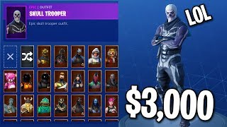 MY $3,000 FORTNITE SKIN COLLECTION... (All My Rarest Skins)