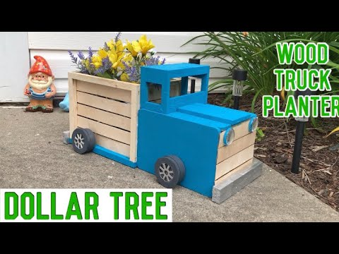 Dollar Tree DIY Wood Truck Planter | Farmhouse Decor