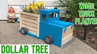 Dollar Tree DIY Wood Truck Planter | Farmhouse Decor