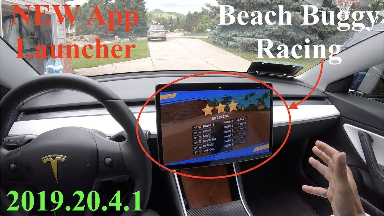 Tesla Update 2019.20.4.1 | NEW App Launcher | Beach Buggy Racing | AP + NCLC Testing