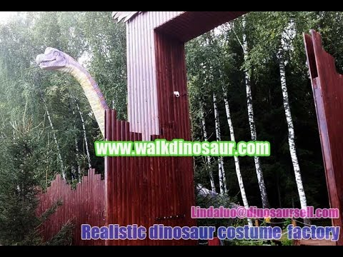 Mechanical realistic Dinosaur park in Russia