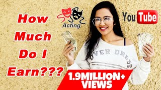 My First Youtube Earning VS Acting Income | How much money do Actors make