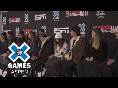 Official Athlete Press Conference [FULL]   X Games Aspen 2018