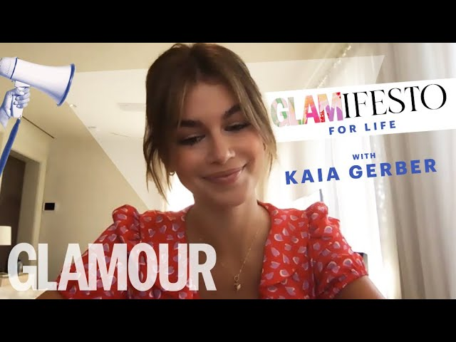 My Glamifesto For Life With Kaia Gerber | GLAMOUR UK