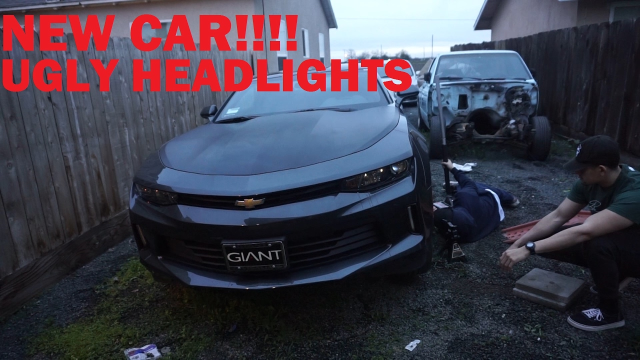 2017 Rs Headlights Installed On A Base Camaro