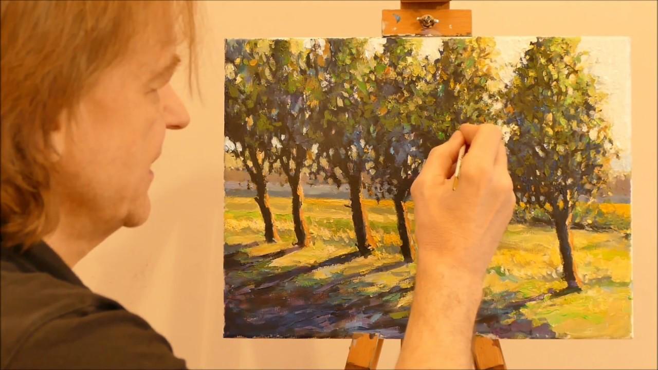 Jak Namalować Obraz Farbami Akrylowymi Pejzażyk 6 Cz13 Vlog