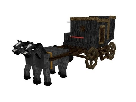Minecraft carriage test cinema 4d youtube for How to build a carriage