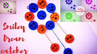 DIY Smiley Dream-catcher Room Decor ( Recycle your Old Bangles )   Karthika Loves DIY