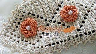 كيفية عمل الكوزة بالكروشي نصف الطوق randa crochet مع أم سعد عبد الله