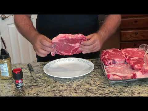 Preparing and Marinating Rib Eye Steaks