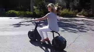 Fat Tire Scooters with model.
