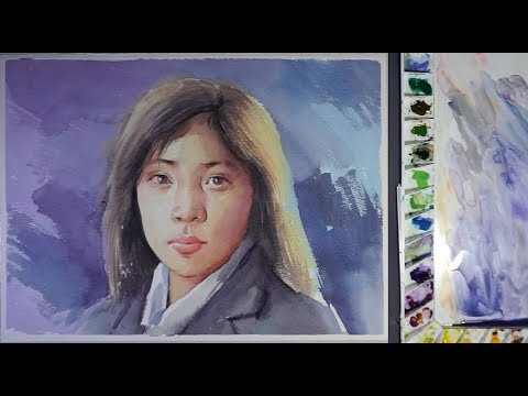 That Simple Watercolor Girl's portrait painting
