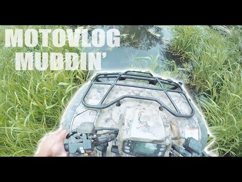 SUNDAY FUNDAY VLOG | ATV MUDDIN' | 100K PLAQUE UNBOXING
