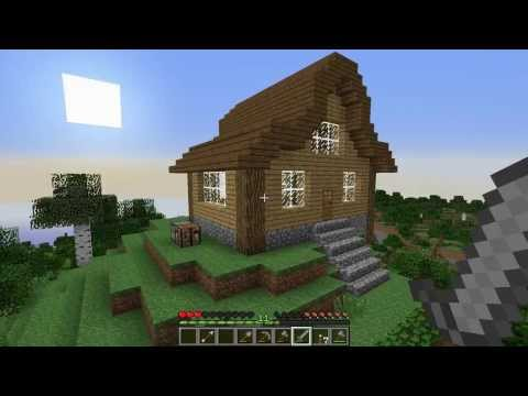 Let's Play Survival Minecraft: Episode 7 Cool House Build