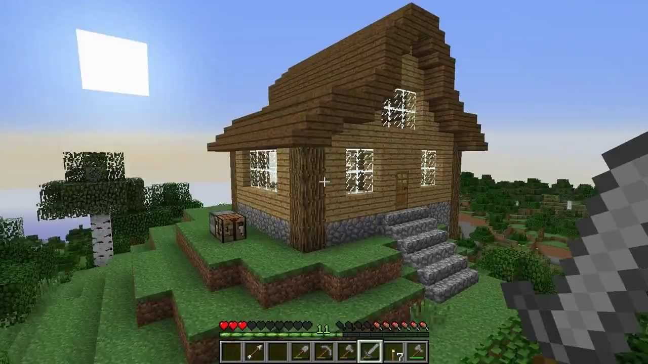 Let 39 s play survival minecraft episode 7 cool house build for Coolhouse com