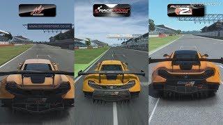 Assetto Corsa vs RaceRoom vs rFactor 2 - McLaren 650S GT3 at Silverstone