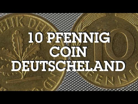 Rare 10 Pfennig Coin of Germany