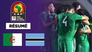 🇩🇿🇧🇼 Résumé : L'Algérie colle une manita au Botswana