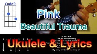 Beautiful Trauma Pink Ukulele
