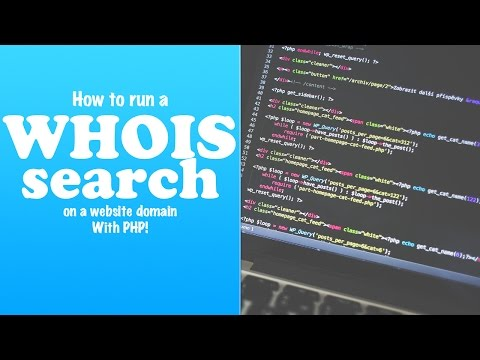 WhoIs Lookup On A Website Domain With PHP (Mac/Linux)