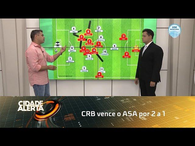 Futebol: CRB vence o ASA por 2 a 1