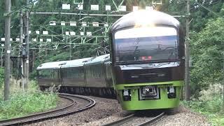 上越線 485系リゾートやまどり 臨時快速谷川岳ループ 越後中里→土樽にて /Japanese Train 485Series RESORT YAMADORI