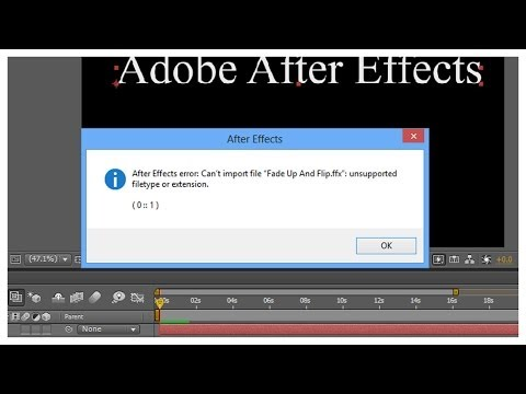 Solve After Effects error Cant import file | ICTHelps.com