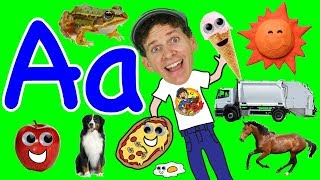 Two Words Alphabet Phonics Song |  Animals, Transportation, Food | Learn English Kids