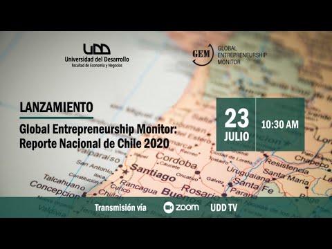 Lanzamiento Global Entrepreneurship Monitor: Reporte Nacional de Chile 2020