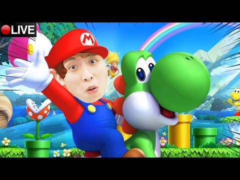 【原來0命之後會變成咁...😂】New Super Mario Bros. U Deluxe#4 LIVE+ Pubg新槍/側倍鏡測試