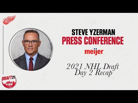 Steve Yzerman Recaps the 2021 Detroit Red Wings NHL Draft