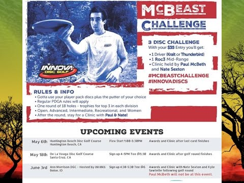 The McBeast Challenge At Huntington Beach Disc Golf Course