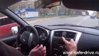 Вождение, перекрёстки, как выполняется поворот на лево.